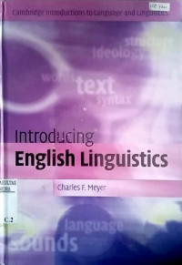 Image of Introducing English linguistics
